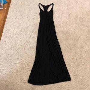 Black racerback maxi dress